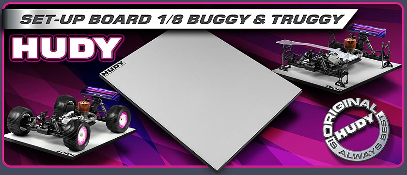 HUDY Set-up Board 1/8 Buggy & Truggy