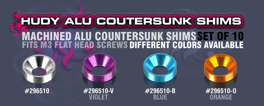 HUDY Alu Coutersunk Shims