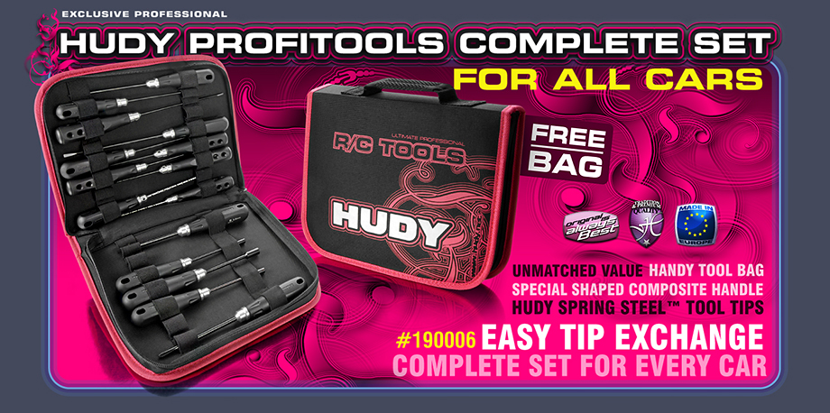 New HUDY PT Set of Tools + Carrying Bag - for All Cars