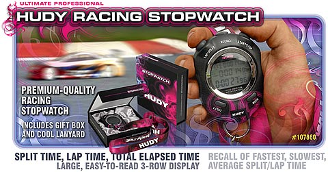 New HUDY Ultimate Racing Stopwatch